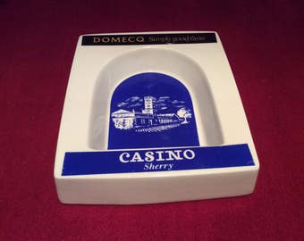 Casino Domecq Sherry Wade PDM Porcelain Ashtray