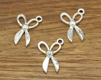 50pcs Scissor Charms Sewing Charms Antique Silver Tone 14x22mm cf2905