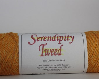 Brown Sheep Serendipity Tweed, color Sunflower ST08    golds