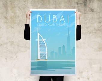 Dubai Travel Poster