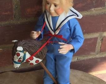 Vintage boy figurine Vintage Figurine