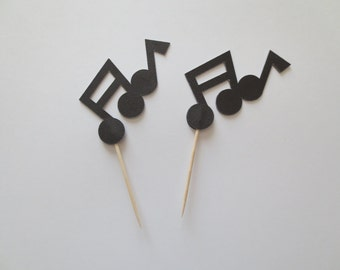 Musical Note Cupcake Toppers - One Dozen