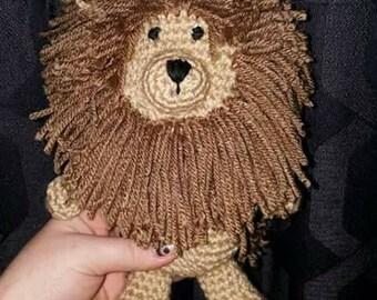Crochet Amigurumi Lion Stuffed Toy