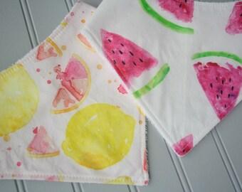 Watermelon Bib | Lemon Bib | Summertime bibs | Bandana Bibs | Drool Bibs | Baby Gifts