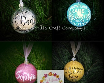 Personalised Bauble. Christmas Bauble. Wedding Gift. Birth Gift. Memorial Bauble.