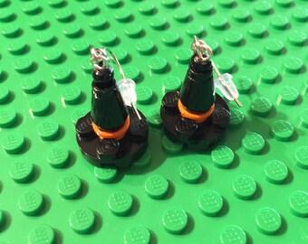 Witch hat Lego earrings