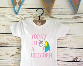 Today I'm A Unicorn, First birthday, Fairy tale Birthday shirt, Birthday, Unicorn, First Birthday, 99% Unicorn, Girl Shirt, Horse shirt, zoo