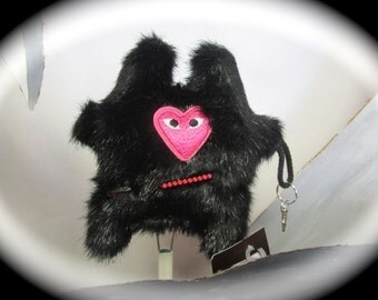 Noir Misfit monstre doudou Pink One Eyed Monster