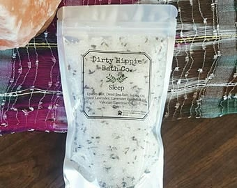 Sleep Bath Salts, Organic Bath Salts, Natural Skincare, Lavender Bath Salts, Foot Soak, Insomnia Relief, 12 oz