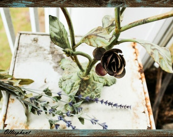 Rose Candle Holder/ Rustic/ Shabby Chic/ Candles/ Candelabra