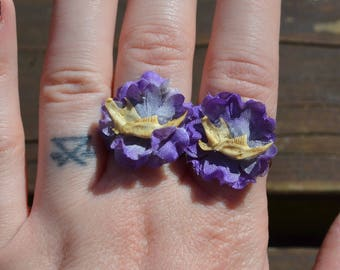 Floral Mouse Jaw Adjustable Rings