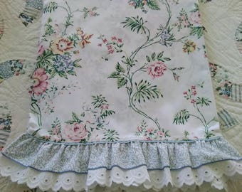 Vintage, Elizabeth Gray, Ansley Park, Ruffled, Eyelet, TWIN Flat Sheet by JCPenney, Country Cottage