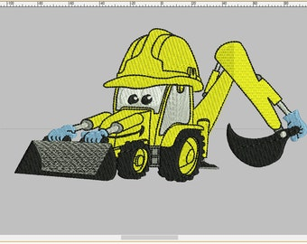 Backhoe Digger 3 SIZES / INSTANT DOWNLOAD 4x4 5x7 6x10