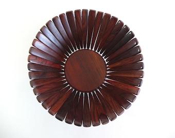 Mid Century Modern Rosewood Fruit Bowl or Basket