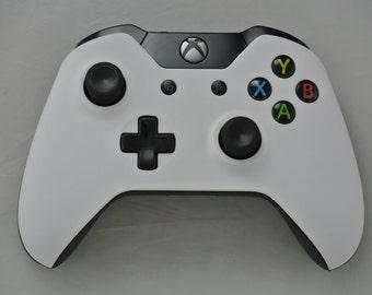 Microsoft Xbox One Wireless Controller Custom Soft Touch White