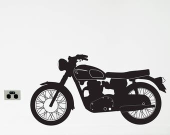 MOTORCYCLE Wall Sticker, Removable Decal, Made In Australia