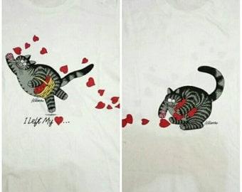 Vintage Bkliban Crazyshirt T Shirt 90s size Medium White double side