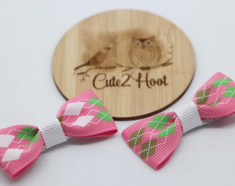 Bow Hair Clips, Hair Clips, bow hair clips, hair accessories, baby hair clips, girls hair clips, alligator clips, pink,