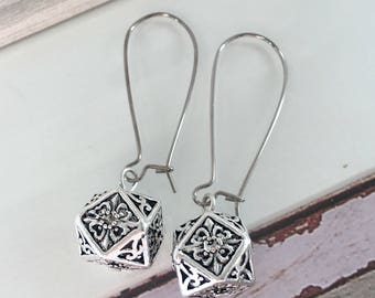 Karen hill tribe earrings with sterling silver beads