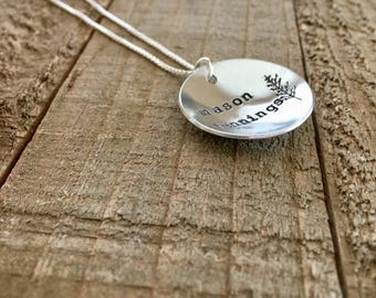 "Mason Jennings-1"" handstamped necklace-gift"
