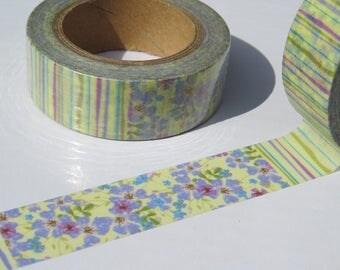 Floral & Stripe Washi Decorative Tape