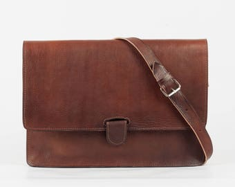 Genuine leather Briefcase bag shoulder bag