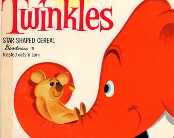 1960's Twinkles General Mills Cereal Box Book Twinkles and the Teddy Bear