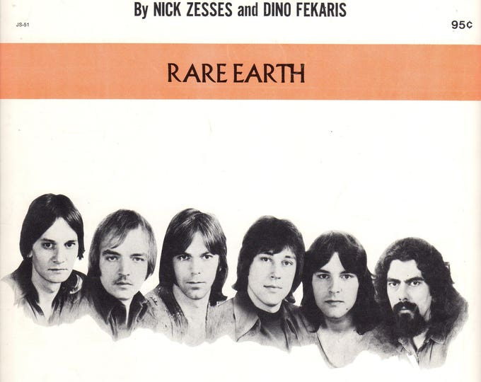 RARE EARTH Rock Band I Just Want to Celebrate Sheet Music 1971