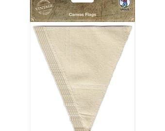 6 pennants in Canvas - Triangles pennant in canvas - canvas Triangle - Triangle Canvas