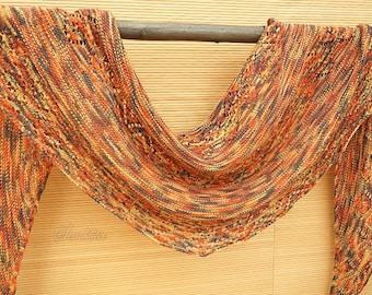 Knitted semi-circular shawl, oversized lace shawl, extra fine merino wool shawl Late fall