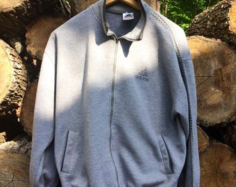 Vintage 80s Adidas Full Zip Jacket Sz XL (Fits like M) USED