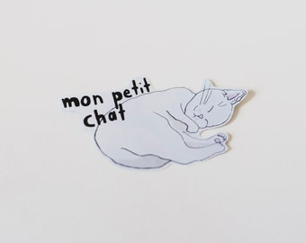 Sticker Cat illustration «Mon petit chat» (My little cat)
