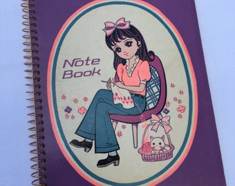 Vintage | Big Eyed Girl | Notebook