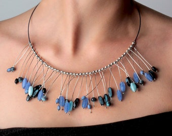 Murano necklace _ blue