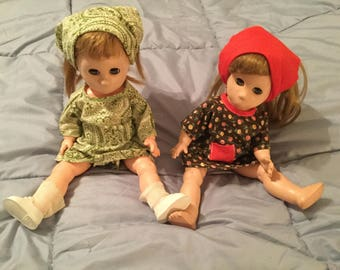 Poor Pitiful Pearl Original Dolls from 1960 2-sold together.