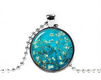 Van Gogh Necklace Van Gogh Almond Blossoms Pendant Van Gogh Jewelry Art Necklace