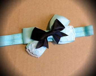 Alice in Wonderland Baby Headband Disney Princesss Mini Bow