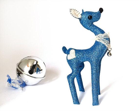 Soft Sculpture   Deer Art    Magic Deer    Fairy Deer    Ooak Plush    Art Doll    Fawn Miniature    Deer Doll    Fairy Tale Toy   Blue