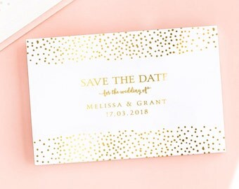 Darling Diamond Save the Date/Wedding Announcement Cards