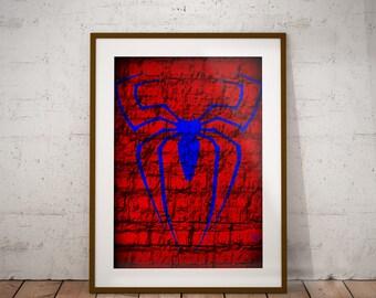 Spider-Man Symbol Graffiti Style Wall Art