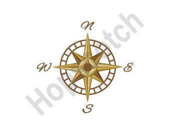 Compass Navigation - Machine Embroidery Design
