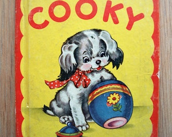 The Story of Cooky no. 397 Rare Vintage Children's Book by Rand McNally 1944