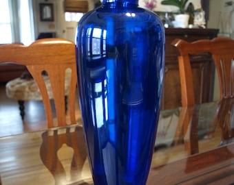 Cobalt Blue Tall Glass Baluster Vase - Art Nouveau – Art Deco