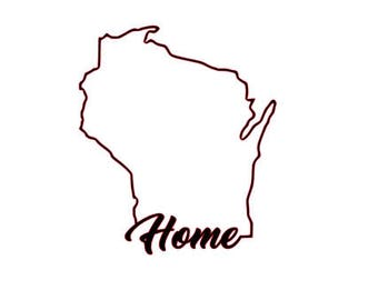 Wisconsin Home Outline Vinyl Decal