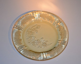 Vintage Amber Sharon Pattern Federal Glass Bread and Butter Plate