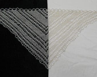 white hand knit lacy shawl for 18 inch (A G) doll