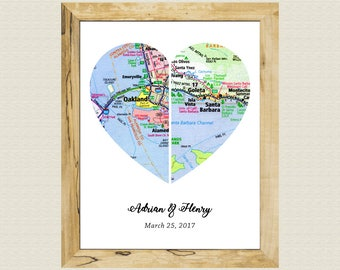 Best Friend Long Distance Gift Customized Wall Decor Gift Family Artwork Gift Boyfriend And Girlfriend Custom Girlfriend Gift Custom Atlas