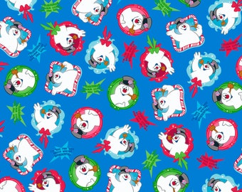 Pre-Order Quilting Treasures Everyone's Favorite Snowman: Frosty the Snowman Cotton Fabric - By the Yard - Available July 2017