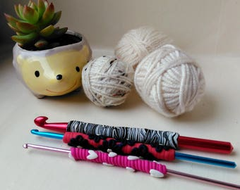 PDF TUTORIAL DIY crochet hook handles
