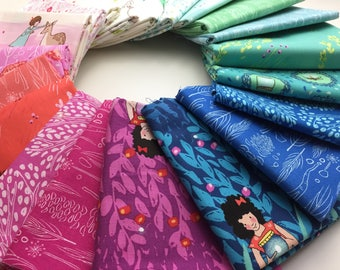 Wee Wander, by, Sarah Jane, Complete fabric bundle, Fat Eighth, Fat Quarter, Micheal Miller Fabrics, OOP, FQ, F8, Quilting Cotton
